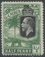 Gambia. 1922-29 KGV. ½d MH. SG 122 - Gambia (...-1964)
