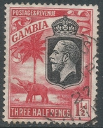 Gambia. 1922-29 KGV. 1½d Used. SG 125 - Gambia (...-1964)
