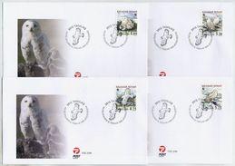 GREENLAND 1999 WWF: Snowy Owls On FDCs.  Michel 331-34 - FDC