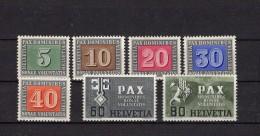 SUISSE 1945 PAX  Zumstein N° 262-266/268/269 Neuf XX - Unused Stamps