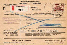 SUISSE   Mandat Postal NON OUVERT Avec Contenu De Steckborn Pour Tagerwilen  ( SUISSE) - Switzerland