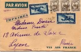 INDOCHINE Lettre Par Avion De Hanoï Pour Lyon  / Cachet Tonkin  (cachet Admis Sans Visite) - Indochina (1889-1945)