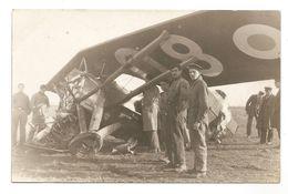 CARTE PHOTO -- ACCIDENT Avion, à Identifier - AVION -  AVIATEUR - PILOTE - 1919-1938: Entre Guerres