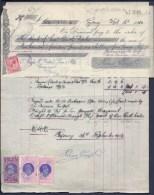 FACTURE ANCIENNE- AUSTRALIE POUR FRANCE- VENTE PEAUX DE MOUTONS-  TIMBRES TAXES + ASSURANCE- 1913- 3 SCANS - Australia