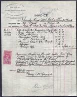 FACTURE ANCIENNE- AUSTRALIE POUR FRANCE- VENTE PEAUX DE MOUTONS-  TIMBRES TAXES + ASSURANCE- 1914- 2 SCANS - Australia