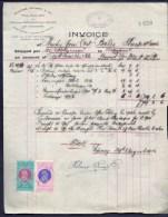FACTURE ANCIENNE- AUSTRALIE POUR FRANCE- VENTE PEAUX DE MOUTONS-  TIMBRES TAXES + ASSURANCE- 1913- 2 SCANS - Australia