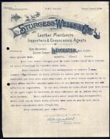 FACTURE OU LETTRE  ANCIENNE AVEC ILLUSTRATION- ANGLETERRE-  PEICESTER POUR FRANCE- MAISON : STURGESS-WELLS-1908 - United Kingdom
