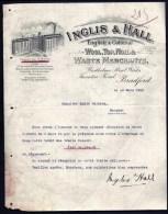 FACTURE OU LETTRE  ANCIENNE AVEC ILLUSTRATION- ANGLETERRE- BRADFORD POUR FRANCE- MAISON : INGLIS- 1908 - United Kingdom