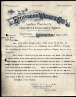 FACTURE OU LETTRE  ANCIENNE AVEC ILLUSTRATION- ANGLETERRE- LEICESTER POUR FRANCE- MAISON : STURGESS-WELLS- 1908 - Royaume-Uni