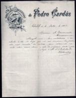 2 FACTURES  OU LETTRES   AVEC ILLUSTRATION- ESPAGNE- SABADELL POUR FRANCE- MAISON : GORINA + GARDUS- 1903-1917- 2 SCANS - Spain
