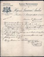 2 FACTURE OU LETTRES AVEC ILLUSTRATION- ESPAGNE- BARCELONA- SABADELL POUR FRANCE- MAISONS : RIBERA ET HIJOS- 1905- 1907 - Spain