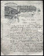 FACTURE OU LETTRE  ANCIENNE AVEC ILLUSTRATION- ESPAGNE- BURGOS POUR FRANCE- MAISON : ARGONADA- 1914 - Spain