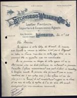 FACTURE OU LETTRE  ANCIENNE AVEC ILLUSTRATION- ANGLETERRE- LEICESTER POUR FRANCE- MAISON : STURGESS-WELLS- 1908 - Australia
