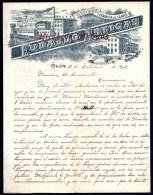 FACTURE OU LETTRE  ANCIENNE AVEC ILLUSTRATION- ESPAGNE- SABADELL POUR FRANCE- MAISON : FUDALDO ARTIGAS- 1903 - Espagne