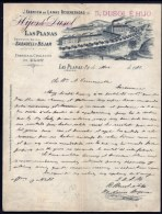 FACTURE OU LETTRE  ANCIENNE AVEC ILLUSTRATION- ESPAGNE- LAS PLANAS POUR FRANCE- MAISON : DUSOL É HIJO- 1901 - Espagne