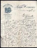 FACTURE OU LETTRE  ANCIENNE AVEC ILLUSTRATION- ESPAGNE- BARCELONA POUR FRANCE- MAISON : PANSU- HERMANOS- 1905 - Spain