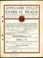 ANNUAIRE KELLY DES CUIRS ET PEAUX- PRIX DES ANNONCES- DOCUMENT RECTO-VERSO POUR ILES BRITANIQUES- 1925- 2 SCANS - Royaume-Uni