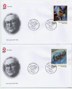 GREENLAND 1998 Paintings On FDCs.  Michel 325-26 - FDC