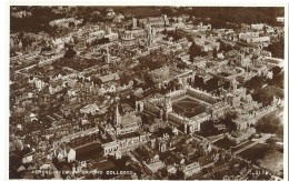 Oxford - Aerial View Of Oxford Colleges - G.2158. - Valentine's Post Card - Oxford