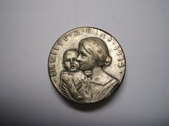 Medaille Mutter Und Kind 1934 - Abbildung Einer Mutter Mit Kleinkind, Rückseitig Schriftzug Reichsverband Pforzheim - Militaria