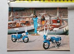 MotoGraziella Carnielli Ciclomotore Cartolina Originale Anni '60 - Moped  Genuine Promotional Postcard - Moto