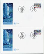 GREENLAND 1997 Christmas On FDCs.  Michel 313-14 - FDC