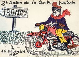 - IRANCY - Marius à Moto - Salon Cartes Postales   -16578- - France