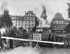 LIBERATION DE PARIS 1944 - Panneau Interdiction Circuler - Tirage Photo Professionnel Original -  RARE - TBE - Guerre 1939-45