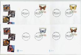 GREENLAND 1997 Butterflies On FDCs.  Michel 301-04 - FDC