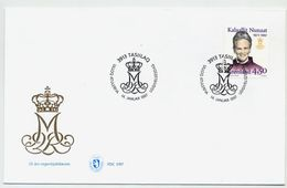 GREENLAND 1997 Queen Margarethe Silver Jubilee On FDC.  Michel 300 - FDC