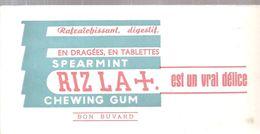 Buvard RIZ LA + Rafraîchissant, Digestif En Dragées, En Tablettes SPEARLINT RIZ LA +  Cest Un Vrai Délice Chewing Gum - Cake & Candy
