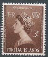 Tokelau Islands. 1953 Coronation. 3d MH. SG 4 - Tokelau