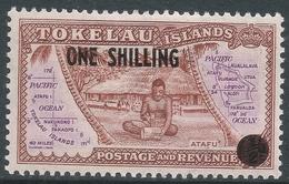 Tokelau Islands. 1956 Surcharge. 1/- On ½d MH. SG 5 - Tokelau