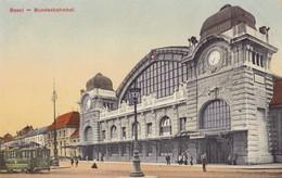 BASEL. - Bundesbahnhof. Carte RARE - BS Bâle-Ville