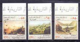 2002 Palestinian City Views Complete Set 3 Values MNH - Palestine