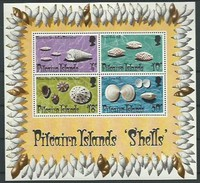 Pitcairn Islands 1974 Yvertn° Bloc 1 *** MNH Cote 30 Euro Coquillages Schelpen Shells - Timbres