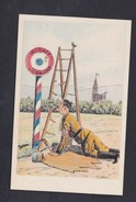 Illustrateur Jaegy Guerre 39-45 Anti Nazi Fascisme Hitler Peintre Couleur Brune Tombé Escabeau Poteau Alsace Lorraine - Guerra 1939-45
