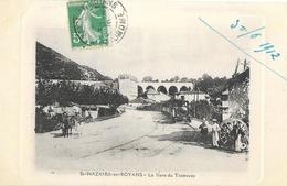 St Saint-Nazaire-en-Royans (Drôme) - La Gare Du Tramway En 1912 - Carte De Luxe - France