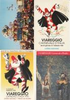LOTTO 4 CARTOLINE CARNEVALE VIAREGGIO  ANNULLI SPECIALI (A CARN191 - 1981-90: Marcofilie