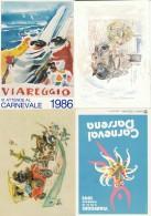 LOTTO 4 CARTOLINE CARNEVALE VIAREGGIO  ANNULLI SPECIALI (A CARN205 - 1981-90: Marcofilie