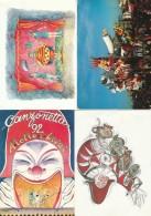 LOTTO 4 CARTOLINE CARNEVALE VIAREGGIO  ANNULLI SPECIALI (A CARN212 - 1981-90: Marcofilie