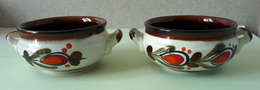 DUO De Tasses Vintage - Céramique SMF Décor Bernau - Ceramics & Pottery