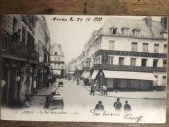 62 - CPA Animée ARRAS - La Rue Saint-Aubert - Arras