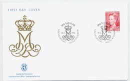 GREENLAND 1996 Queen Margarethe Definitive 4.25 Kr On FDC.  Michel 283 - FDC