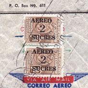 Lettre Equateur Quito Ecuador Clipper Aero Sucres Recommandé Clipper Roberto Ruf Pinturas Productos Quimicos 1955 - Ecuador