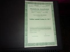 TRANSVAL DAUPHINE  (grenoble-isere) - Shareholdings