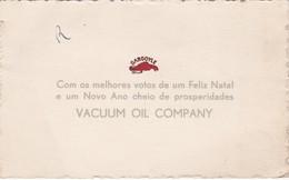 PORTUGAL OLD MERRY CHRISTMAS CARD- VACUUM OIL COMPANY - GARGOYLE LUBRIFICANTES - Portugal