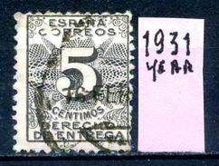 SPAGNA - Year 1931 - DIRITTO DI CONSEGNA - Usato - Used - Utilisè - Gebraucht. - Servizi