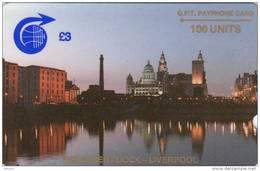ST.HELENA ISL.(GPT) - The Albert Dock/Liverpool, First Trial Issue 100 Units, CN : 1CSHB, Used - St. Helena Island