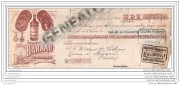 15 04 AURILLAC CANTAL Super Kina BARRAU Liqueur 1910 Traite Dechiree 1910 Rue De La Bride Distillateur BARRAU - Bills Of Exchange